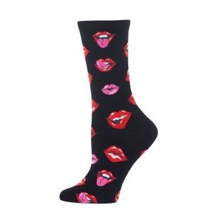 🌺4 Items $25🌺 Red & Pink Lips Socks-NWT
